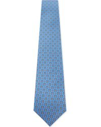 fcb889a7178de6 Ferragamo London Nderground & Taxi Print Silk Tie in Blue for Men - Lyst