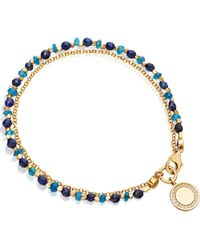 Astley Clarke | Blue 18ct Yellow Gold-plated And Diamond Cosmos Biography Bracelet | Lyst