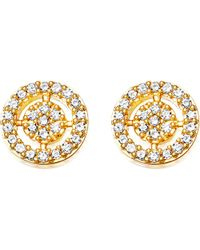 Astley Clarke - Metallic Mini Icon Aura 14ct Yellow Gold And Diamond Stud Earrings - Lyst