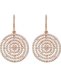Astley Clarke | Pink Icon Aura 14ct Rose Gold And Diamond Earrings - For Women | Lyst