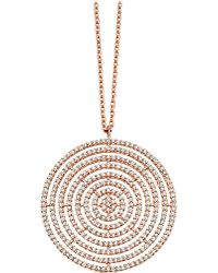Astley Clarke | Pink Large Icon Aura 14ct Rose-gold And Diamond Pendant Necklace | Lyst