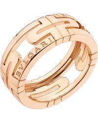 BVLGARI | Parentesi 18kt Pink-gold Ring | Lyst