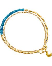 Astley Clarke | Metallic Biography Ocean Quartz And 18ct Gold-plated Bracelet | Lyst