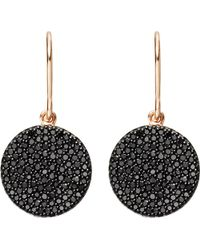 Astley Clarke | Icon 14ct Rose-gold And Black Diamond Earrings | Lyst