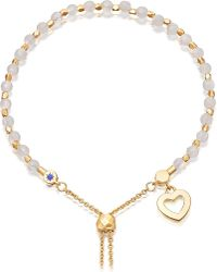 Astley Clarke | Metallic Heart 18ct Yellow-gold Vermeil And Rose Quartz Kula Bracelet | Lyst