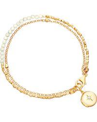 Astley Clarke | Metallic Biography 18ct Gold-plated Moonstone Bracelet | Lyst