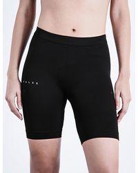 Falke - Black Fitness Short Jersey Leggings - Lyst