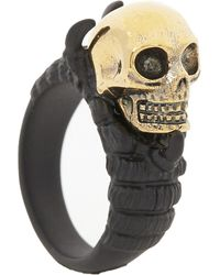 Alexander McQueen | Black Skull And Claw Ring for Men | Lyst
