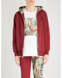 BBCICECREAM - Red Lizard Camouflage-print Cotton-jersey Hoody for Men - Lyst