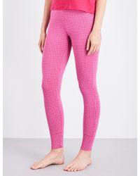 Calvin Klein - Black Geometric-print Skinny Stretch-cotton Pyjama Bottoms - Lyst