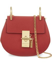 Chloé - Red Drew Nano Leather Cross-Body Bag - Lyst