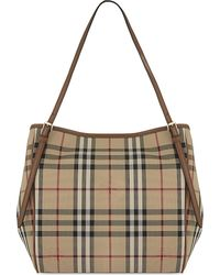 Burberry | Brown Canterbury Small Canvas Tote | Lyst