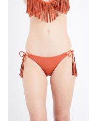 Seafolly   Orange Coastal Fringe Bikini Bottoms   Lyst