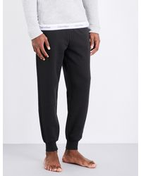 Calvin Klein - Black Modern Cotton-blend Jogging Bottoms for Men - Lyst