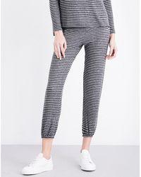 Sundry   Gray Striped Jersey Jogging Bottoms   Lyst