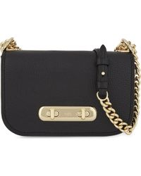 COACH - Black Swagger 20 Pebbled Leather Cross-body Bag - Lyst