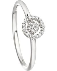 Astley Clarke - Mini Icon Aura 14ct White-gold And Diamond Ring - Lyst