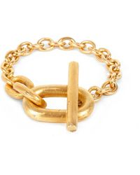 Parts Of 4 | Metallic Acid-wash Gold-plated Toggle Bracelet | Lyst
