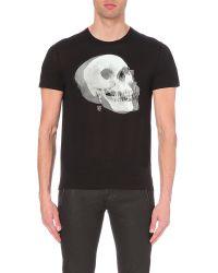 Alexander McQueen   Black Skull Print T-shirt for Men   Lyst