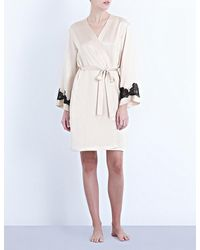 Nk Imode | White Morgan Stretch-lace And Silk-satin Robe | Lyst