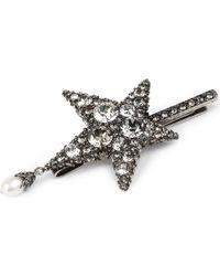 Alexander McQueen - Metallic Star-shaped Swarovski And Pearl Hairclip - Lyst