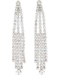 Saint Laurent - Metallic Crystal Dangle Earrings - Lyst