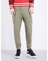 Alexander McQueen | Green Tapered Cotton-jersey Jogging Bottoms for Men | Lyst