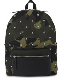 Alexander McQueen - Multicolor Skull Camouflage Backpack - Lyst