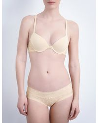 DKNY | Natural Signature T-back Lace Bra | Lyst