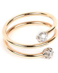 Annina Vogel - Metallic 9 Carat Gold And Diamond Toi Et Moi Ring - Lyst