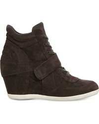 Ash | Brown Bowie Wedge Suede Ankle Boots | Lyst