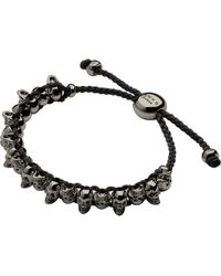 Links of London - Black Skull Sterling Silver Friendship Bracelet - Lyst