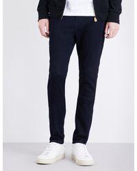 True Religion - Blue Jack Runner Skinny-fit Tapered Jeans for Men - Lyst
