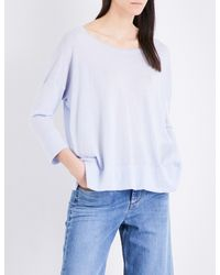 French Connection - White Dropped-shoulder Knitted Jumper - Lyst