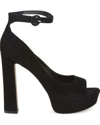ALDO | Black Rocha Suede Heeled Sandals | Lyst