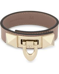 Valentino - Multicolor Demi-moon Lock Bracelet - Lyst