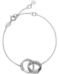 Links of London | White 20-20 Interlocking Bracelet | Lyst