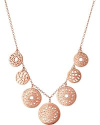 Links of London - Metallic Timeless 18ct Rose-gold Vermeil Coin Necklace - Lyst