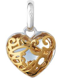 Links of London | Metallic Sterling Silver And 18ct Yellow Gold Flirty 30 Heart Charm | Lyst