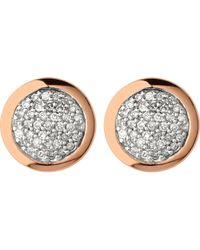 Links of London - Metallic Diamond Essentials Rose Gold Vermeil And Diamond Stud Earrings - Lyst