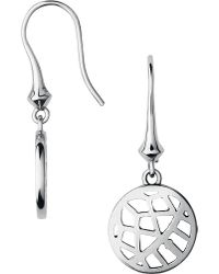 Links of London   Metallic Timeless Sterling Silver Drop Earrings   Lyst
