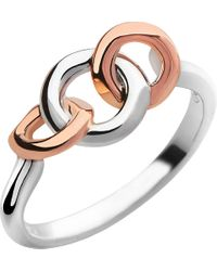 Links of London | Metallic 20/20 Sterling Silver And 18ct Rose Gold-plated Ring | Lyst