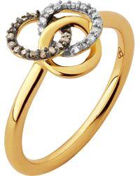Links of London | Metallic Treasured 18ct Gold & Diamond Ring | Lyst