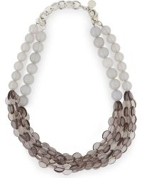 Armani | Metallic Beaded Necklace | Lyst