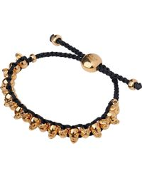 Links of London - Pink Rose Gold (black/dark Salmon) Skull Friendship Bracelet - Lyst