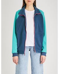 The North Face Blue Staff Contrast-panel Fleece And Shell Jacket
