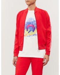 6845d6c0c0df Off-White c o Virgil Abloh Side-stripe Jersey jogging Jacket in Red ...