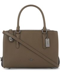 COACH | Brown Brooklyn 28 Leather Shoulder Bag | Lyst
