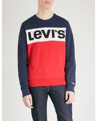 Levi's - Red Logo-print Cotton-jersey Sweatshirt for Men - Lyst