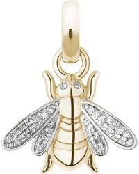 Links of London | Metallic Bee 18-carat Gold And Diamond Charm | Lyst
